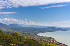 View from Iverian Mountain on Black Sea coastline Stock Photography
