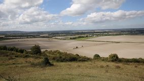 View from Ivinghoe Beacon Chiltern Hills Buckinghamshire England UK English countryside between Dunstable and Berkhamsted stock footage