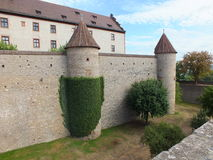 A view on a ivy-covered castle wall Royalty Free Stock Photo