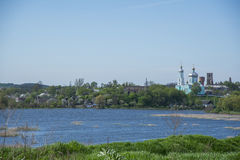 View on Iziaslav city and Horyn river Royalty Free Stock Photo