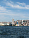 View on Izmir downtown. From Izmir's bay Stock Photography