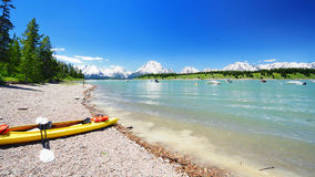 A view of Jackson Lake Stock Photography