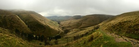 View from Jacob's Ladder over Kinder Edale. In the Peak District in England Royalty Free Stock Photo