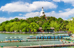 View of Jade Island with White Pagoda in Beihai Park - Beijing Royalty Free Stock Photo
