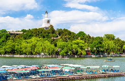 View of Jade Island with White Pagoda in Beihai Park - Beijing Royalty Free Stock Image