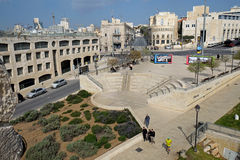 View of Jaffa street and the square of the IDF Royalty Free Stock Photography