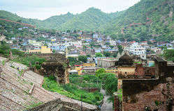 View of the Jaipur city, from Amer Fort Stock Photography