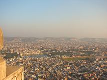View of Jaipur City from Nahargarh Fort, Rajasthan, India royalty free stock photography