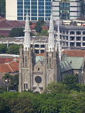 View of Jakarta Cathedral. From Manas stock image