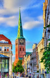 View of Jakobikirche, St. Jakobi Church in Lubeck, Germany Stock Photo