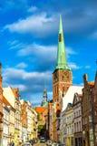 View of Jakobikirche, St. Jakobi Church in Lubeck, Germany Stock Images