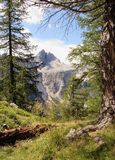 View of Jalovec mountain Royalty Free Stock Photos