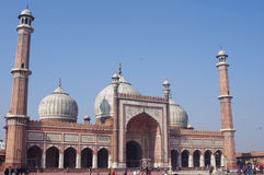 View of Jama Masjid Mosque in Delhi, India Stock Image