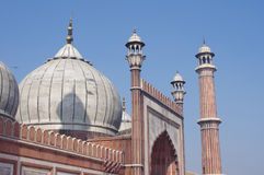 View of Jama Masjid Mosque in Delhi, India Royalty Free Stock Image
