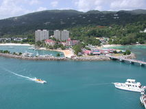 View of Jamaican Harbor. From Cruise Ship Stock Photography