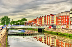 View of James Joyce Bridge in Dublin Royalty Free Stock Photography