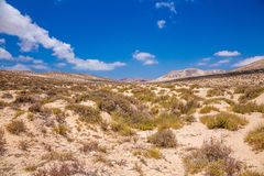 View of Jandía land from a beach Stock Photos