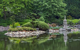 View of a japanese garden Royalty Free Stock Photography