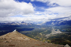 View from Jasper in Canada Alberta Stock Image