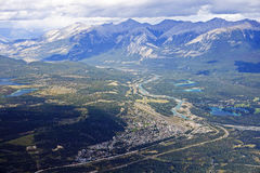 View from Jasper in Canada Alberta stock images