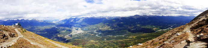 View from Jasper in Canada Alberta royalty free stock photography