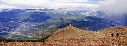 View from Jasper in Canada Alberta stock photography