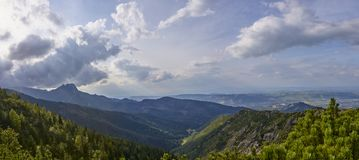 View of Jaworzynka valley in Polish Tatra Mountain Stock Photography