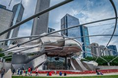 View of the Jay Pritzker Music Pavilion Royalty Free Stock Images