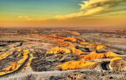 View from Jebel Hafeet mountain towards Al Ain Stock Images