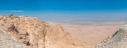 View from the Jebel Jais Mountain. Tallest peak in the UAE stock photo