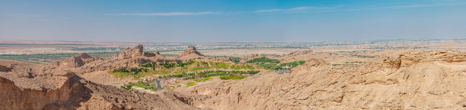 View from the Jebel Jais Mountain. Tallest peak in the UAE royalty free stock images