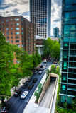 View of Jefferson Street in downtown Portland  Stock Photography