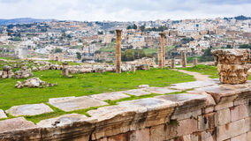 View of Jerash city and ancient Gerasa town Stock Photo