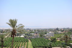 View of Jericho in the Judean Desert Stock Photos