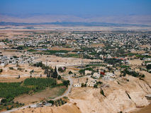 View of Jericho From The Monastery of the Temptation, West Bank Royalty Free Stock Photos