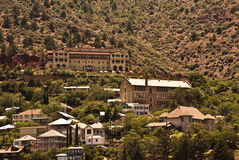 View of Jerome in Arizona. View of Jerome a semi-ghost town in Arizona stock photo