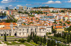 View of the Jeronimos Church in Lisbon Stock Image