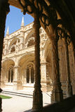 View of Jeronimos Monastery. Jeronimos Monastery, Empire Square, Belem, Portugal Royalty Free Stock Photo