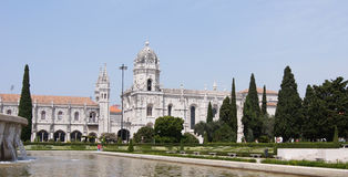 View of Jeronimos Monastery from Empire Square Royalty Free Stock Photos