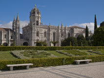View of Jeronimos Monastery at Lisbon, Portugal Stock Images