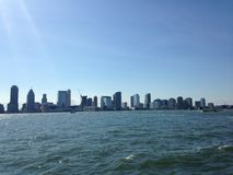 View of Jersey City from Battery Park. Stock Photography