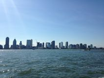 View of Jersey City from Battery Park. Stock Images