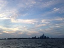 View of Jersey City from the Ocean. Stock Photos
