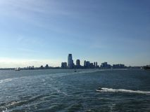 View of Jersey City from the Ocean. Stock Photography