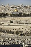 View of Jerusalem. View of temple mount and jerusalem from mount of olives Stock Photography