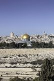 View of Jerusalem. View of temple mount and jerusalem from mount of olives Stock Image