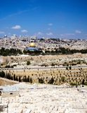 View on Jerusalem. View of Jerusalem from Olive Mountain, Israel Stock Image