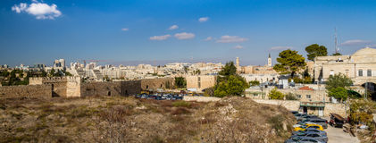 View of Jerusalem in Israel Royalty Free Stock Photos