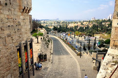 View of Jerusalem from Jaffa Gate Stock Images