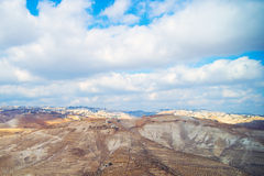 View of Jerusalem from the Judean Desert Royalty Free Stock Photography